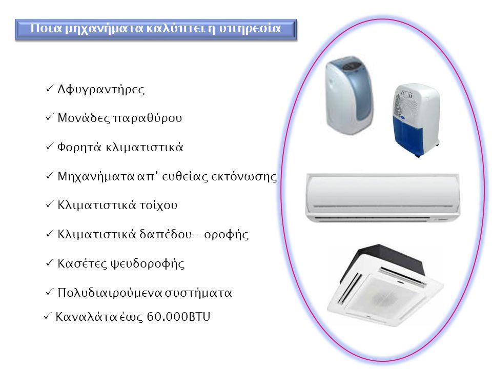 Παρεχόμενες Υπηρεσίες  Ε πισκευή (εντός – εκτός εγγύησης)  Σ υντήρηση  Ε γκατάσταση  Μ ετεγκατάσταση  Δ ιάθεση και πώληση ανταλλακτικών και εξαρτημάτων
