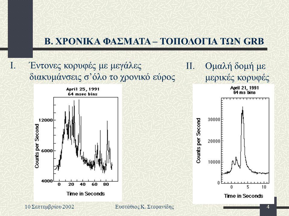 10 Σεπτεμβρίου 2002Ευστάθιος Κ.Στεφανίδης5 Β.