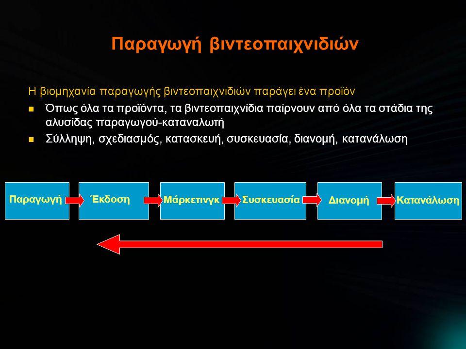 Παιχνίδια περιπέτειας Παιχνίδια που στηρίζονται στο σενάριο, στην σκέψη, στην εξερεύνηση και στην λύση γρίφων  Δημιουργήθηκαν στους πρώτους υπολογιστές λόγω έλλειψης δυνατοτήτων για γραφικά  Βασίζονταν στο κείμενο και στις πλούσιες περιγραφές  Αργότερα απέκτησαν γραφική απεικόνιση (και τριδιάστατα γραφικά)  Kings Quest της Roberta Williams, το Indiana Jones and the Fate of Atlantis και η σειρά Monkey Island της LucasArts  Η αγορά παιχνιδιών περιπέτειας έχει συρρικνωθεί αρκετά τελευταία  Στοιχεία τους έχουν βρει το δρόμο τους σε άλλες κατηγορίες (πχ action- adventure)