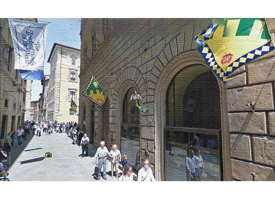 Φόντε Μπράντα Η μεσαιωνική κρήνη Φόντε Μπράντα και πίσω της η εκκλησία του Σαν Ντομένικο, του 13 ου αι.