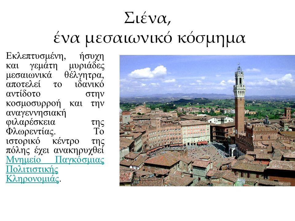 Η Σιένα είναι πόλη στην Τοσκάνη της Ιταλίας, σε υψόμετρο 322 μέτρων και πρωτεύουσα της ομώνυμης επαρχίας.