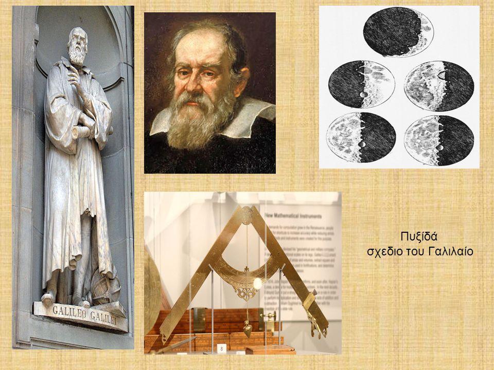Μερικά από τα τηλεσκόπια που είχε σχεδιάσει ο Γαλιλαίος