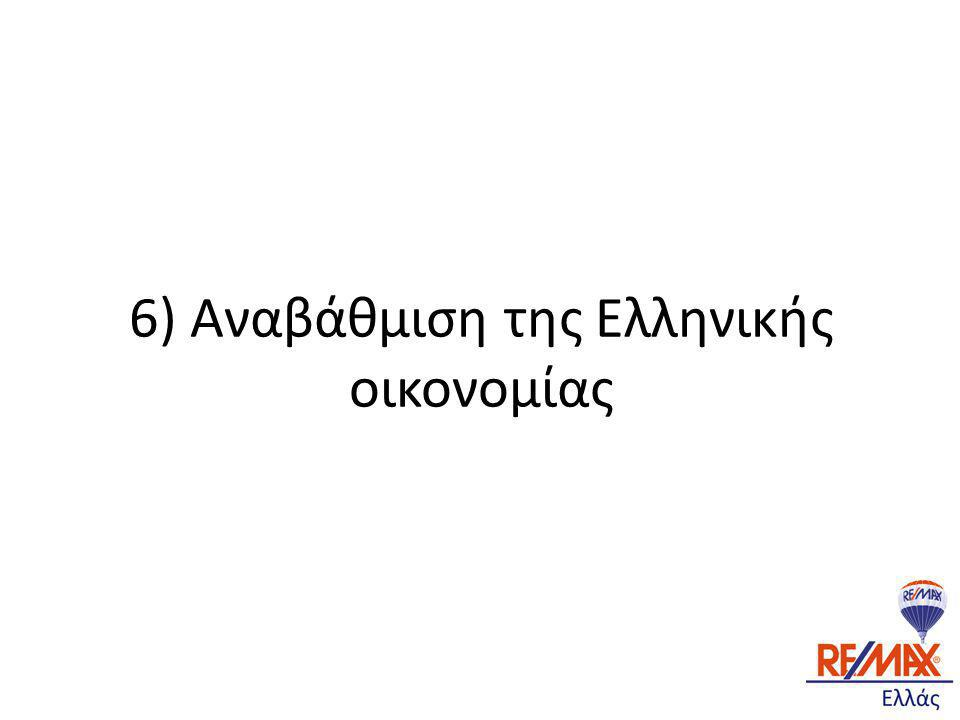 6) Αναβάθμιση της Ελληνικής οικονομίας