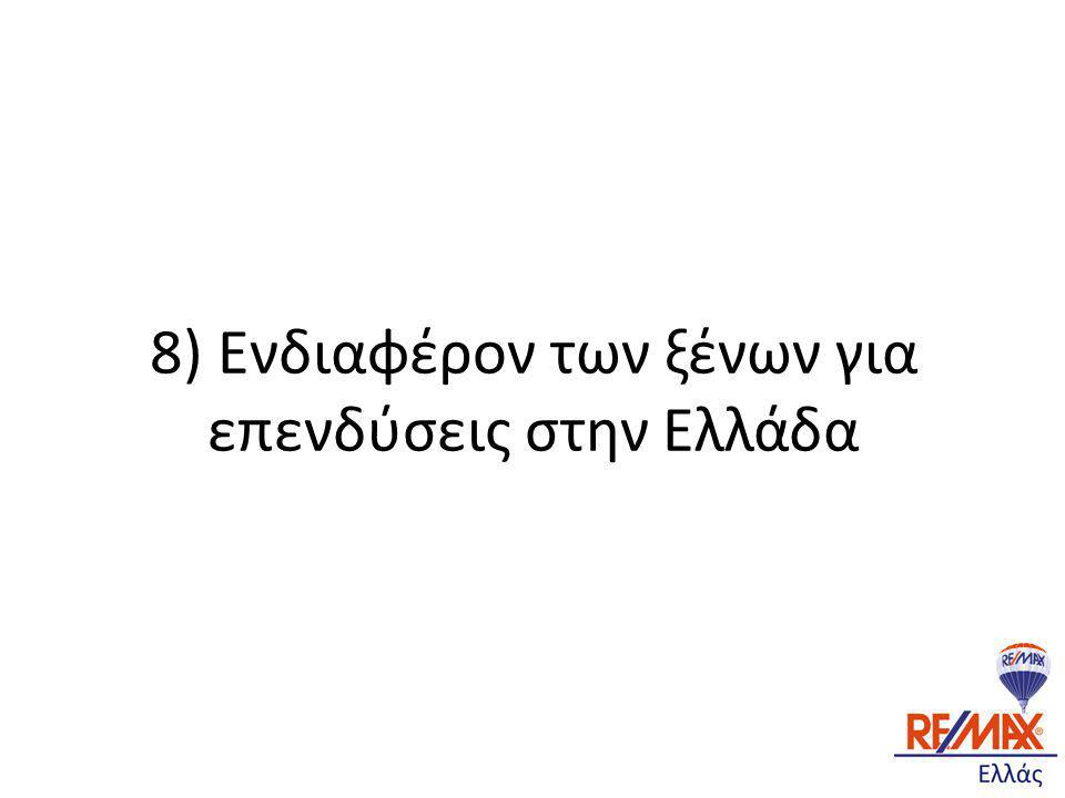 8) Ενδιαφέρον των ξένων για επενδύσεις στην Ελλάδα