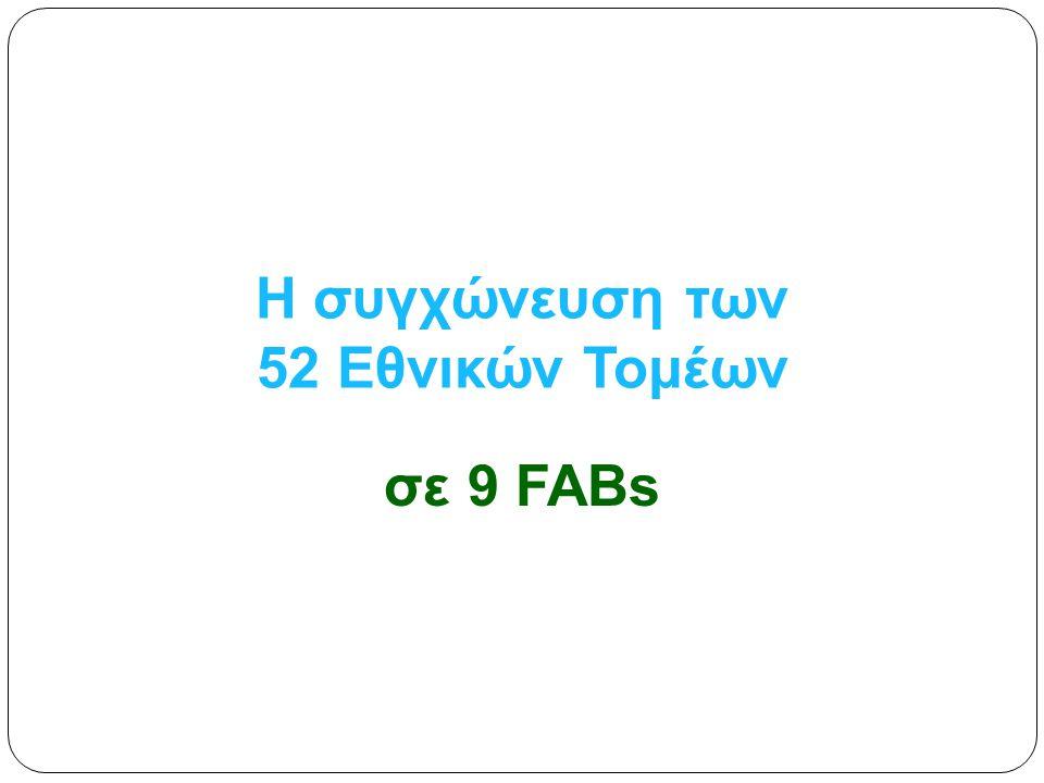 Η συγχώνευση των 52 Εθνικών Τομέων σε 9 FABs