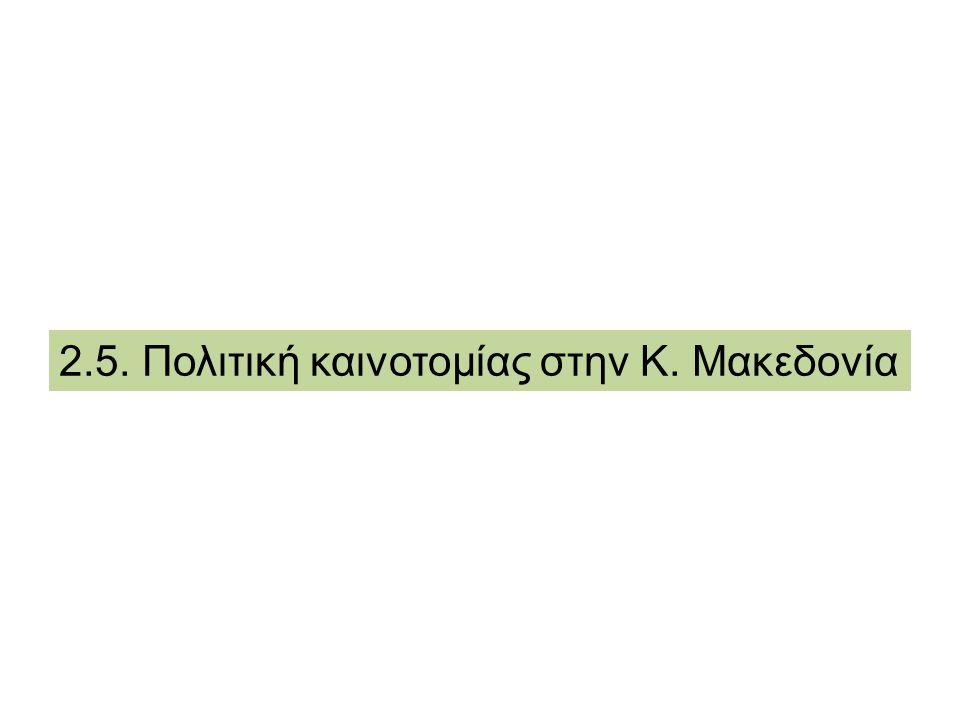 2.5. Πολιτική καινοτομίας στην Κ. Μακεδονία