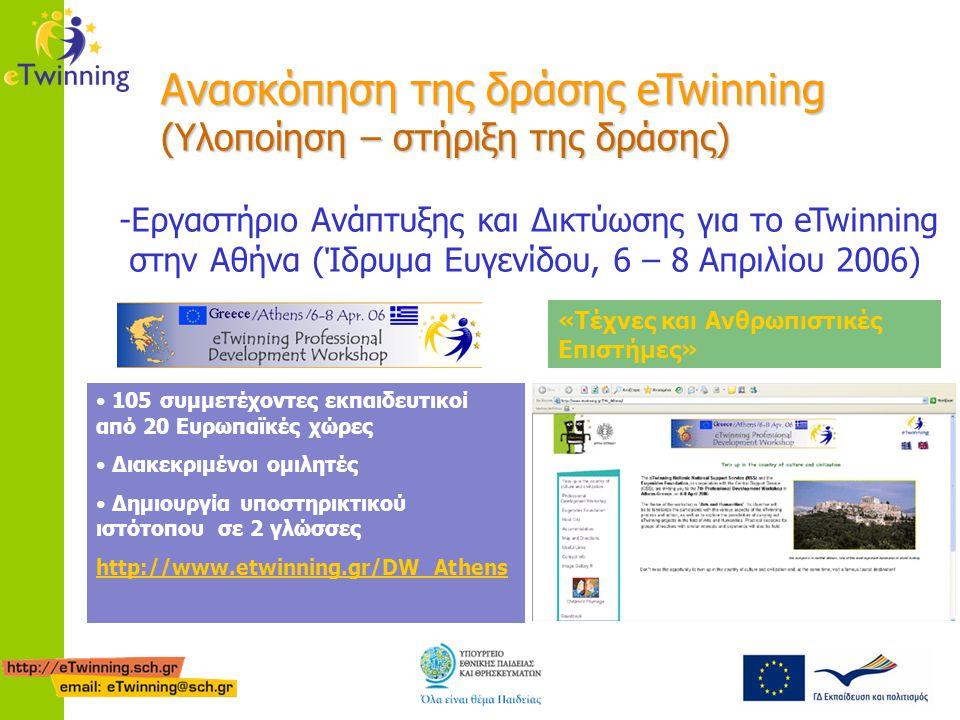 Ανασκόπηση της δράσης eTwinning (Υλοποίηση – στήριξη της δράσης) -Εργαστήριο Ανάπτυξης και Δικτύωσης για το eTwinning στην Αθήνα (Ίδρυμα Ευγενίδου, 6