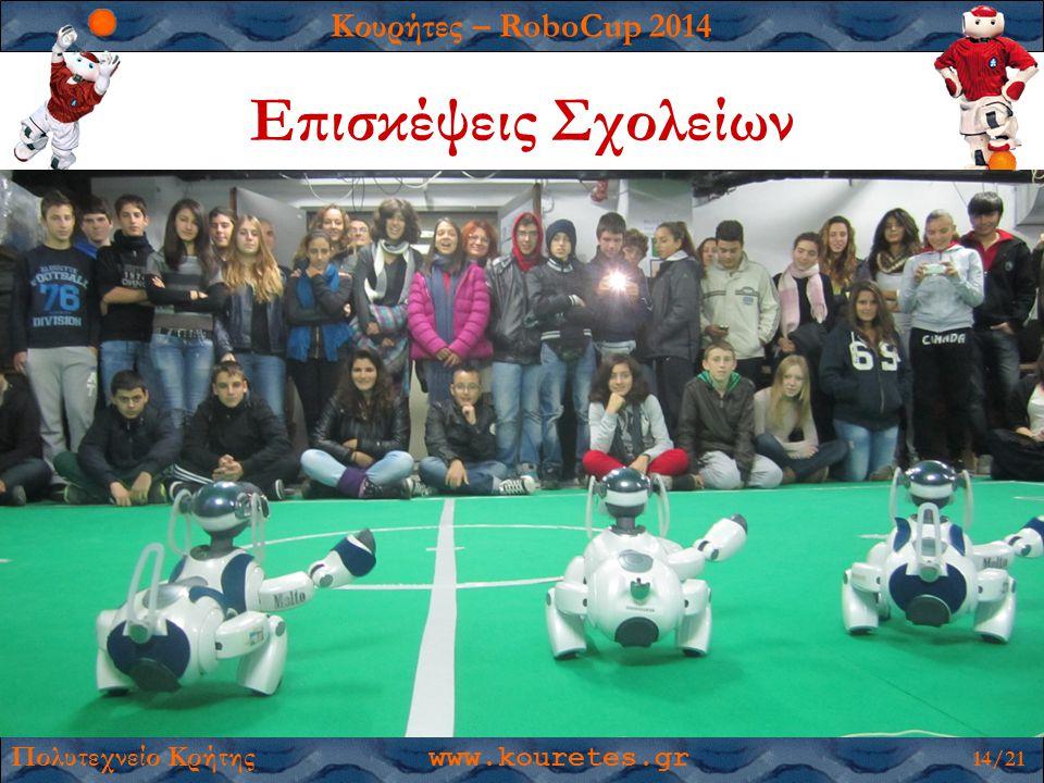Κουρήτες – RoboCup 2014 Πολυτεχνείο Κρήτης www.kouretes.gr 14/21 Επισκέψεις Σχολείων