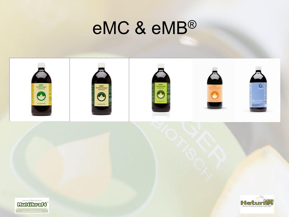 Τα παρτέρια ψεκάζονται με ενεργοποιημένο eMB ® •Αναλογία C / N (ιδανικά 1:15 έως 1:30) •Υγρασία 35% - 50 % •1λ.