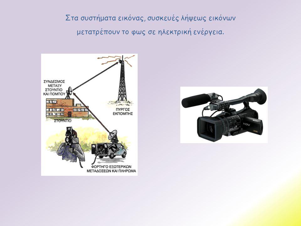 Στα συστήματα εικόνας, συσκευές λήψεως εικόνων μετατρέπουν το φως σε ηλεκτρική ενέργεια.