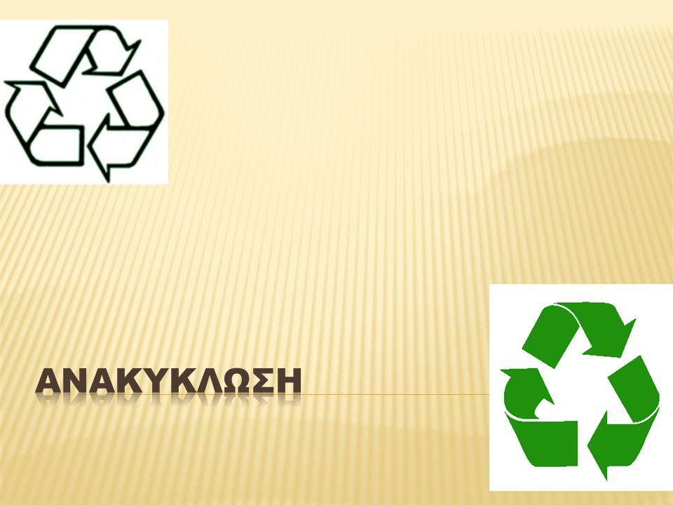 Η ΑΝΑΚΥΚΛΩΣΗ ΣΤΗΝ ΚΥΠΡΟ: •Οι χώρες της Ευρωπαϊκής Ένωσης έχουν ως περιβαλλοντικό στόχο την ανακύκλωση κάθε μορφής αποβλήτων •Με πρωτοβουλία του Κυπριακού Εμπορικού και Βιομηχανικού Επιμελητηρίου ιδρύθηκε η εταιρεία Green Dot Public Co Ltd που σήμερα εκπροσωπεί πάνω από 400 ηγετικές επιχειρήσεις.
