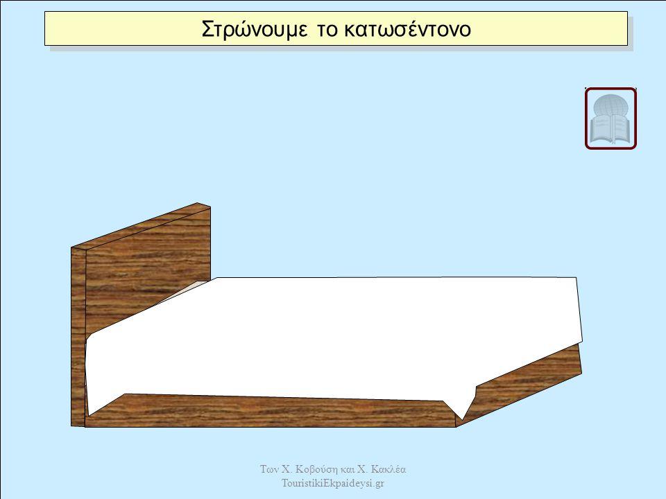 Τοποθετούμε το επίστρωμα καλά τεντωμένο ώστε να μην σχηματίζει ζάρες. Των Χ. Κοβούση και Χ. Κακλέα TouristikiEkpaideysi.gr