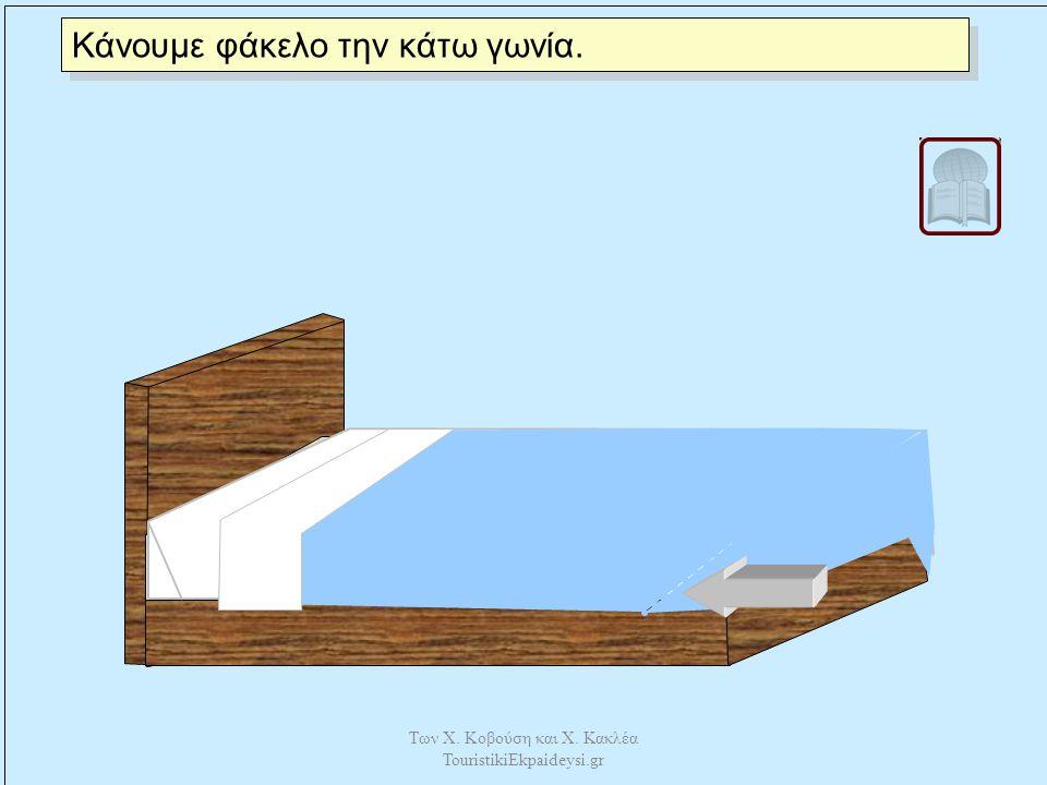 Γυρίζουμε το πάνω μέρος από το πανωσέντονο στο ύψος της κουβέρτας. Των Χ. Κοβούση και Χ. Κακλέα TouristikiEkpaideysi.gr
