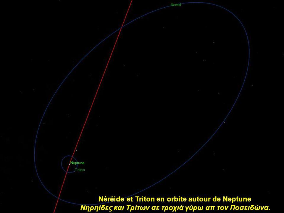 Les satellites en orbite autour de Neptune (excepté Néreide) Οι δορυφόροι του Ποσειδώνα (εκτός των Νηρηίδων)