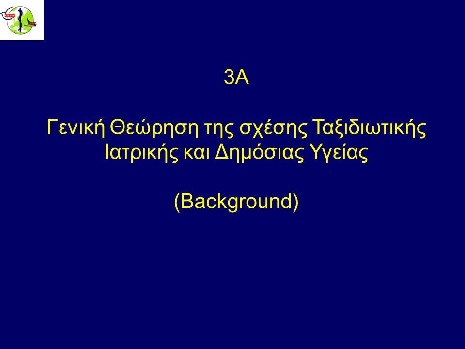 3Α Γενική Θεώρηση της σχέσης Ταξιδιωτικής Ιατρικής και Δημόσιας Υγείας (Background)