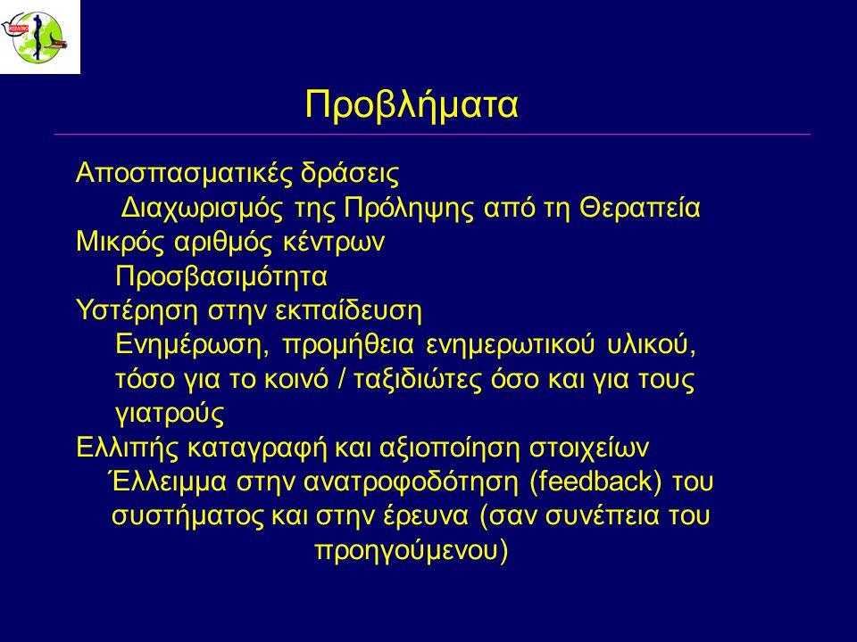 Παραδείγματα φυγόκεντρων δράσεων 1.Διάχυση αποτελεσμάτων επιδημιολογικής επιτήρησης 2.