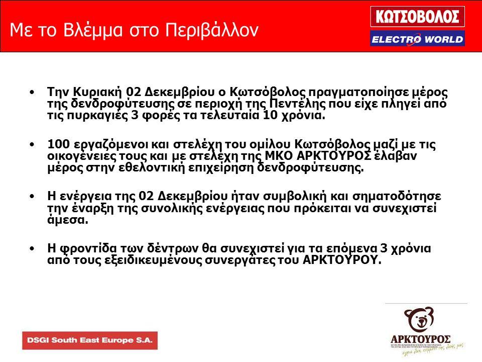 Με το Βλέμμα στο Περιβάλλον •Την Κυριακή 02 Δεκεμβρίου ο Κωτσόβολος πραγματοποίησε μέρος της δενδροφύτευσης σε περιοχή της Πεντέλης που είχε πληγεί από τις πυρκαγιές 3 φορές τα τελευταία 10 χρόνια.