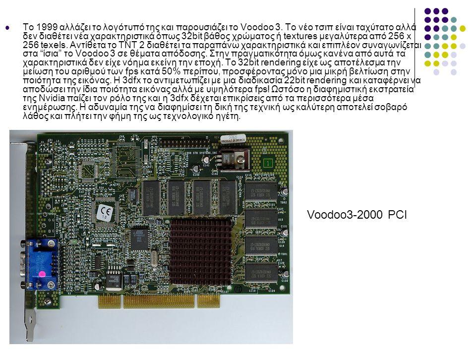  Το 1999 αλλάζει το λογότυπό της και παρουσιάζει τo Voodoo 3.