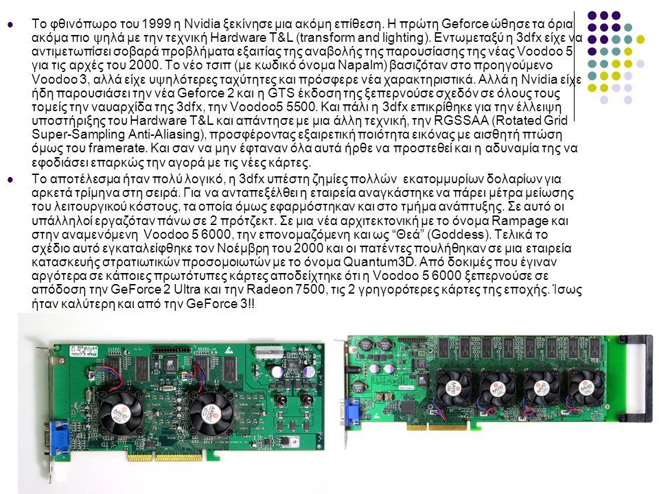  Το φθινόπωρο του 1999 η Nvidia ξεκίνησε μια ακόμη επίθεση.