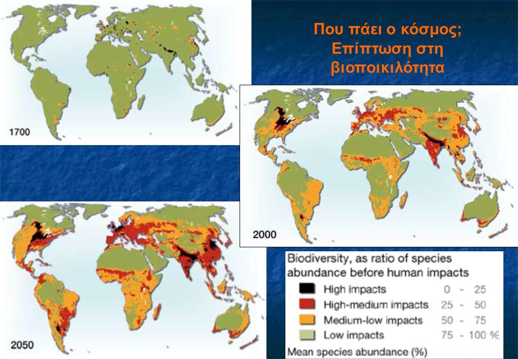 Που πάει ο κόσμος; Επίπτωση στη βιοποικιλότητα
