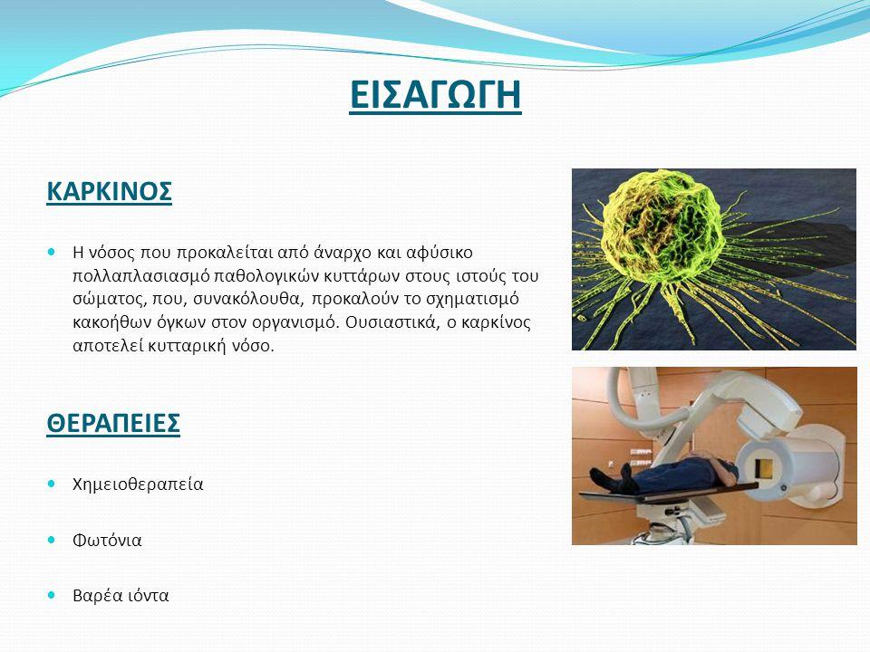 ΕΙΣΑΓΩΓΗ ΚΑΡΚΙΝΟΣ  Η νόσος που προκαλείται από άναρχο και αφύσικο πολλαπλασιασμό παθολογικών κυττάρων στους ιστούς του σώματος, που, συνακόλουθα, προ
