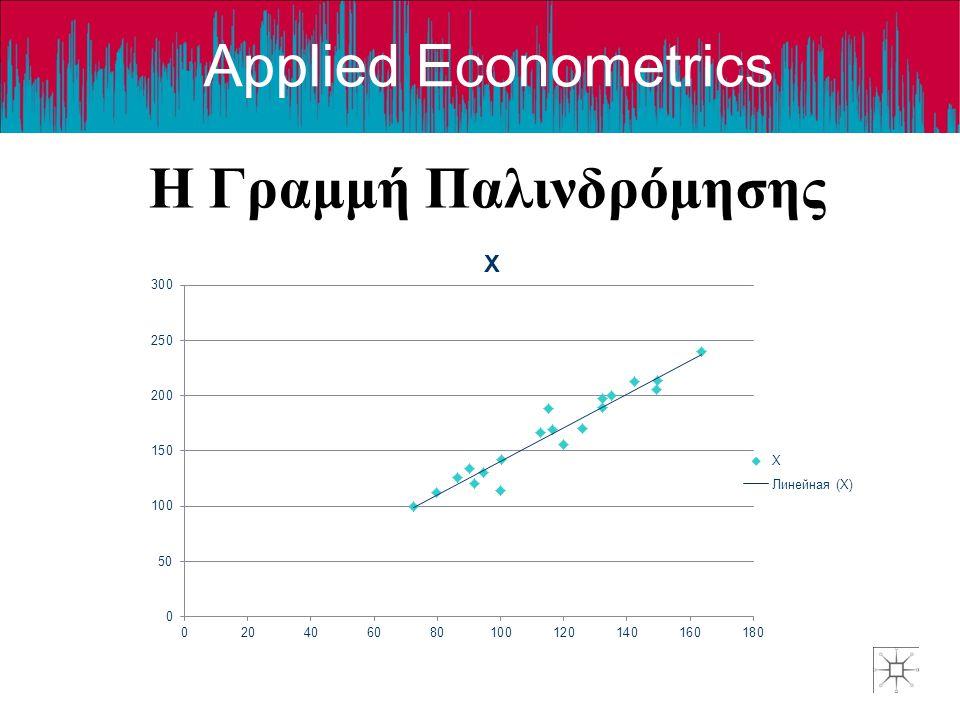 Applied Econometrics Η Γραμμή Παλινδρόμησης