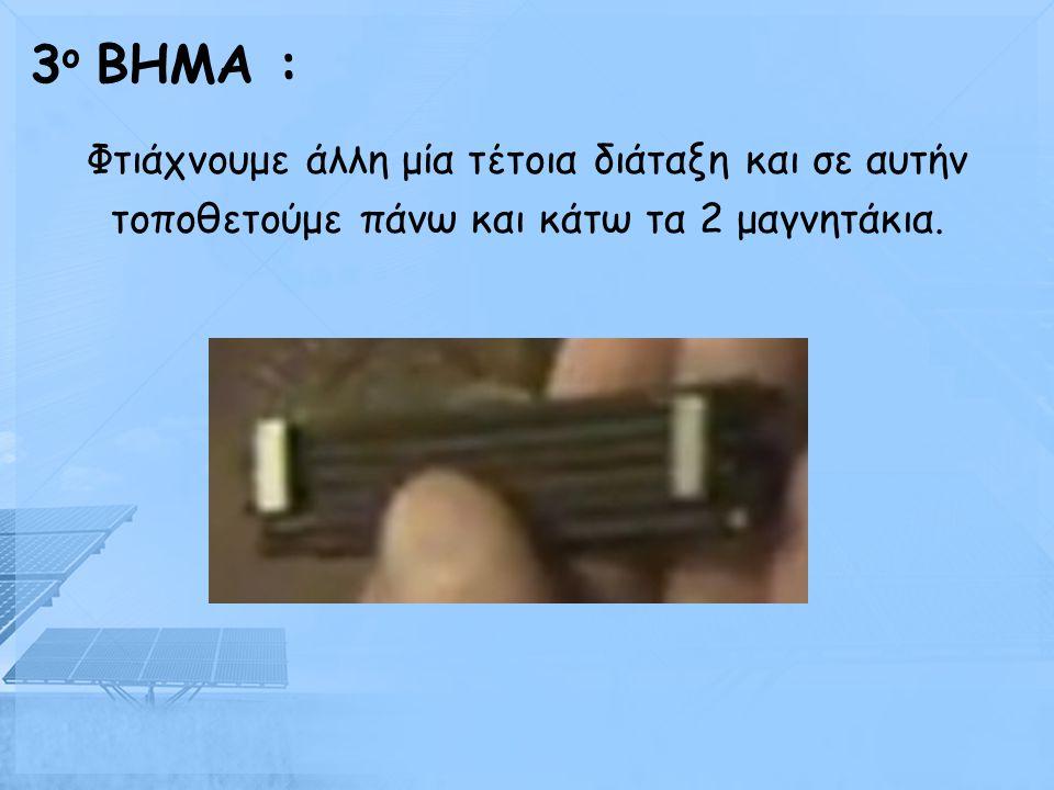 Σφηνώνουμε το ένα καλώδιο ανάμεσα στο κέρμα και στα τσιμπιδάκια. 2 ο BHMA :
