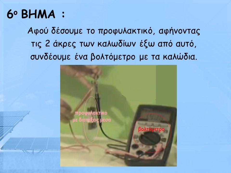 Γεμίζουμε ένα προφυλακτικό με ανθρακούχο νερό και τοποθετούμε μέσα σε αυτό με προσοχή το σύστημα που έχουμε φτιάξει. 5 ο BHMA :