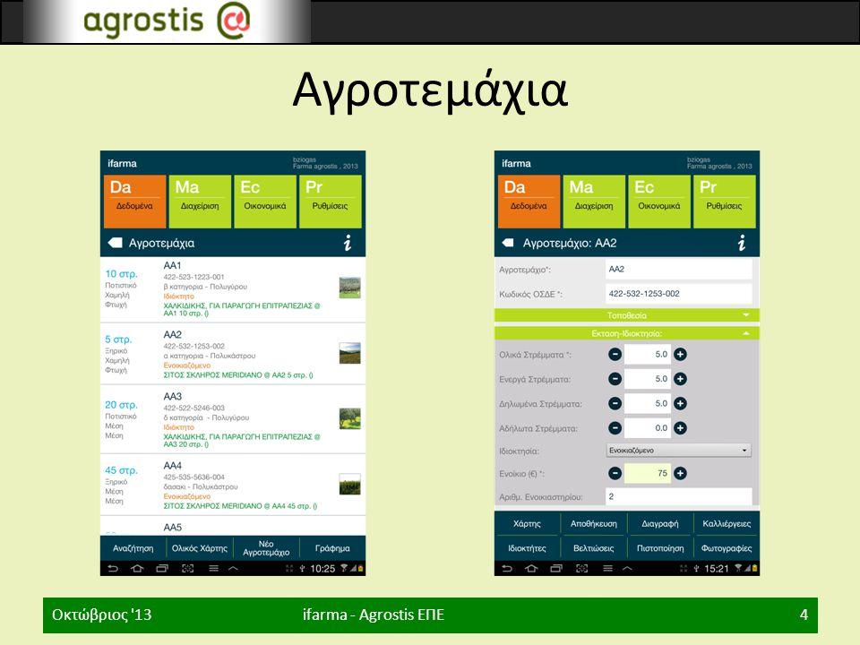 Χάρτες, Μηχανήματα ifarma - Agrostis ΕΠΕΟκτώβριος 135