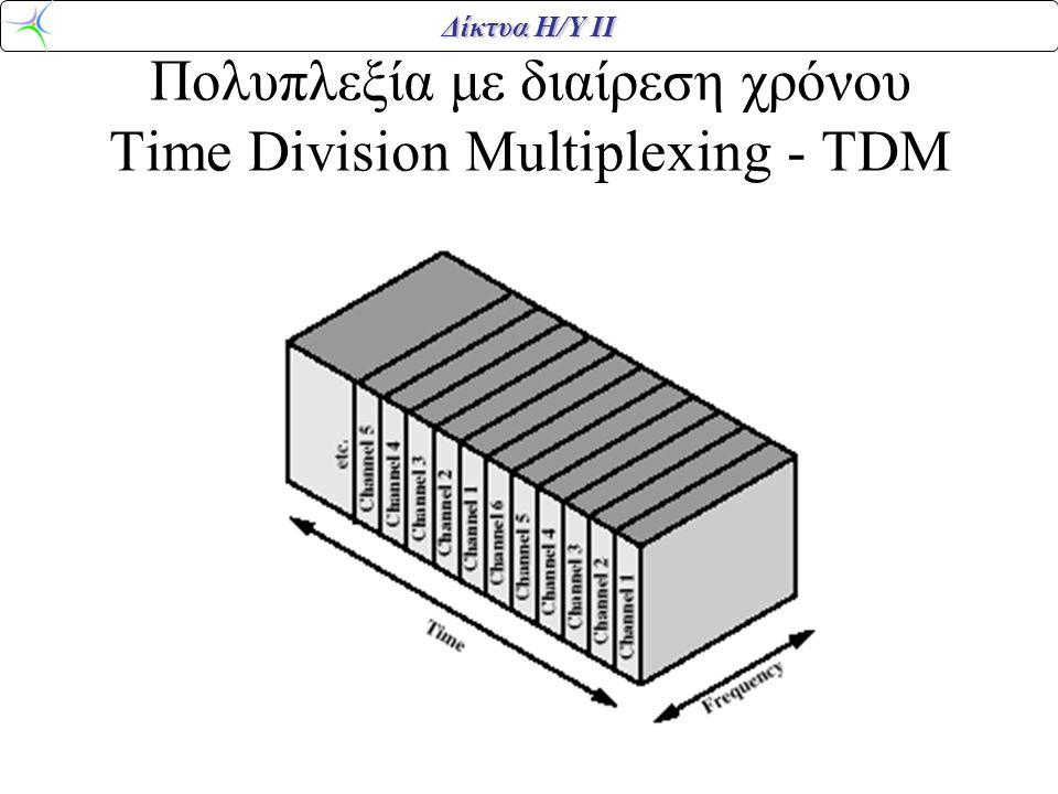 Δίκτυα Η/Υ ΙΙ Πολυπλεξία με διαίρεση χρόνου Time Division Multiplexing - TDM