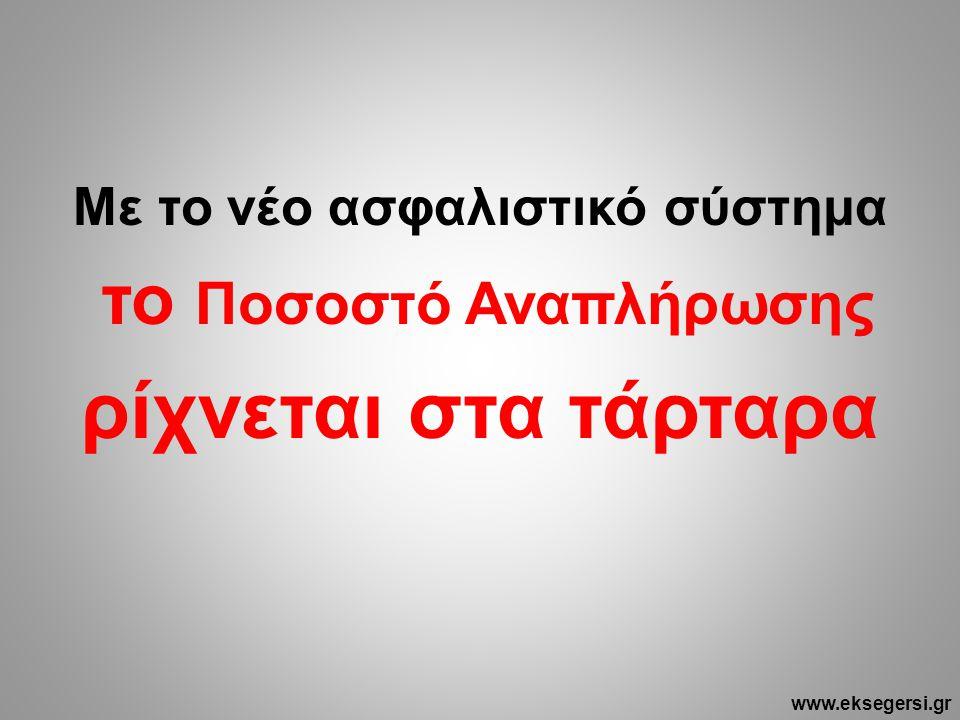 Με το νέο ασφαλιστικό σύστημα το Ποσοστό Αναπλήρωσης ρίχνεται στα τάρταρα www.eksegersi.gr