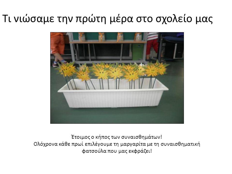 Τι νιώσαμε την πρώτη μέρα στο σχολείο μας Έτοιμος ο κήπος των συναισθημάτων.