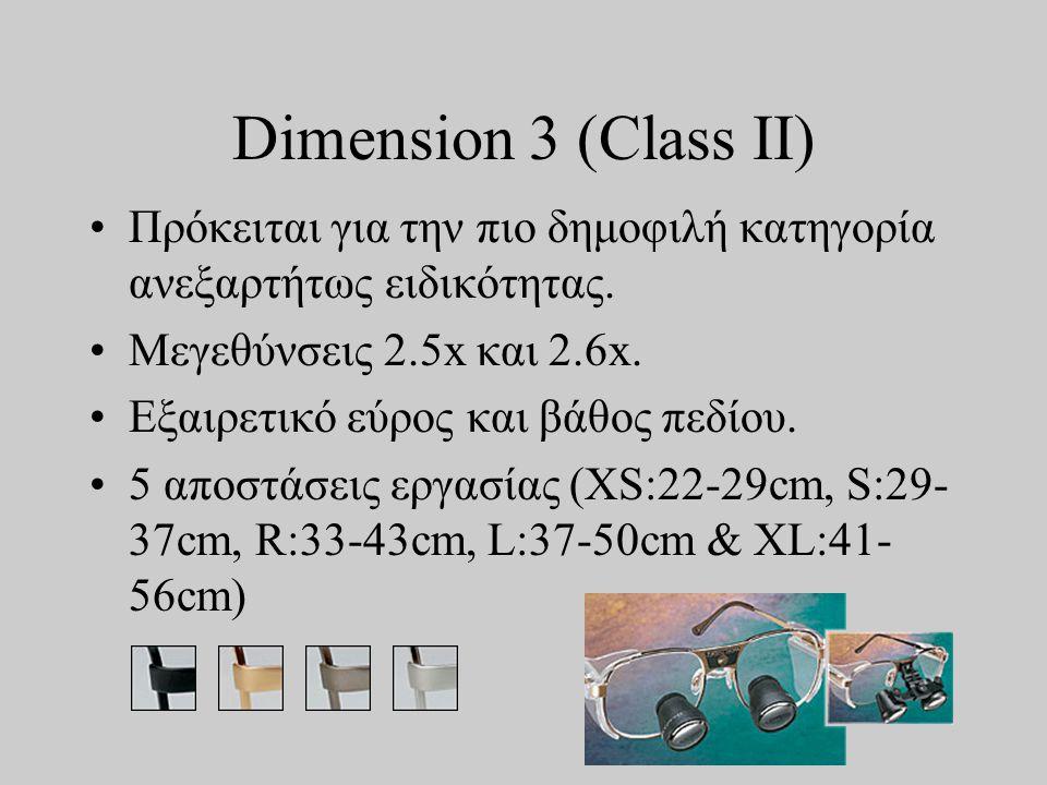 Dimension 3 (Class II) •Πρόκειται για την πιο δημοφιλή κατηγορία ανεξαρτήτως ειδικότητας.