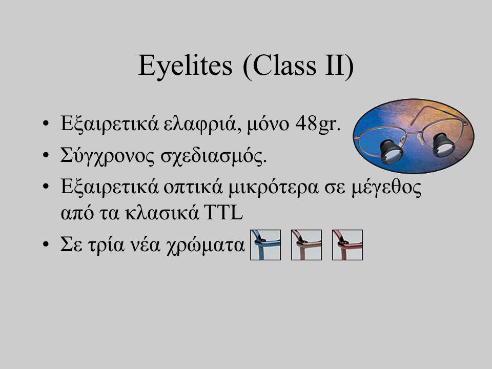 Eyelites (Class II) •Εξαιρετικά ελαφριά, μόνο 48gr.