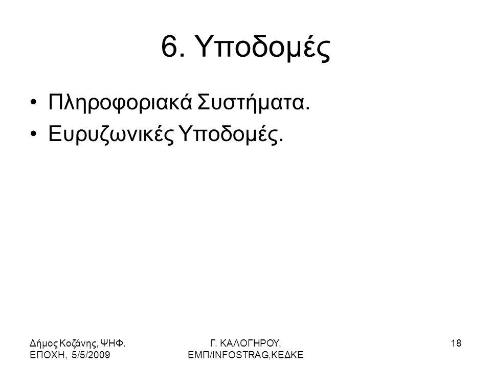 Δήμος Κοζάνης, ΨΗΦ. ΕΠΟΧΗ, 5/5/2009 Γ. KΑΛΟΓΗΡΟΥ, ΕΜΠ/INFOSTRAG,ΚΕΔΚΕ 18 6.