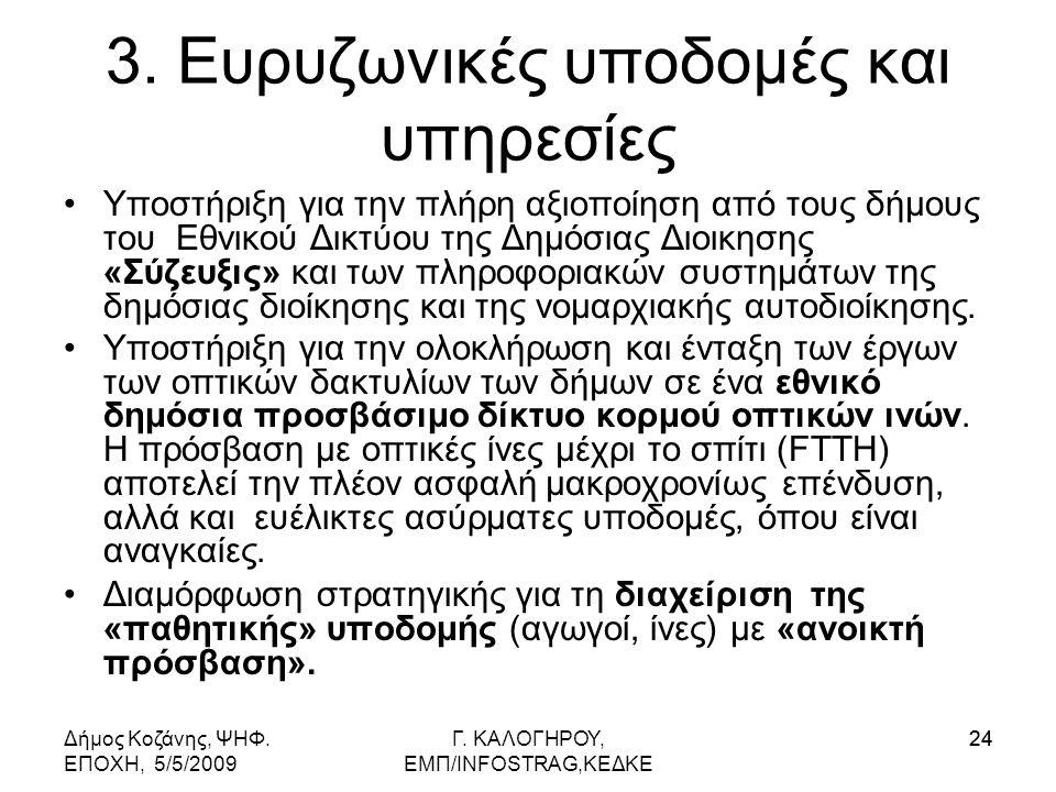Δήμος Κοζάνης, ΨΗΦ. ΕΠΟΧΗ, 5/5/2009 Γ. KΑΛΟΓΗΡΟΥ, ΕΜΠ/INFOSTRAG,ΚΕΔΚΕ 24 3.