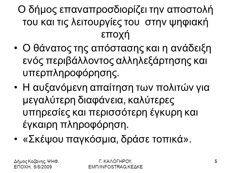 Δήμος Κοζάνης, ΨΗΦ. ΕΠΟΧΗ, 5/5/2009 Γ.