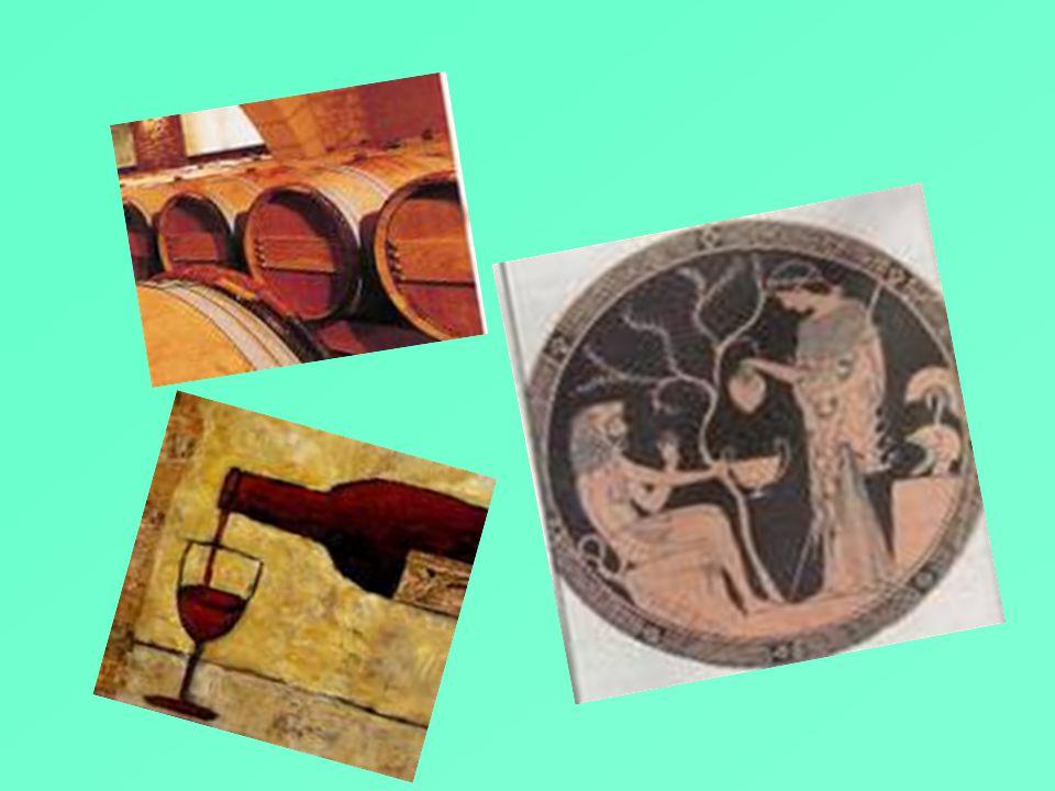 Οι οινοτρόποι οι τρεις αδερφές,εγγονές του Διόνυσου η Ελαίς, η Σπερμώ και η Οινώ συνδέονται με τα τρία βασικά προϊόντα της γης. Ο παππούς τους τούς έδ