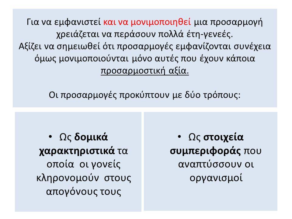 Χαρακτηριστικά παραδείγματα είναι: