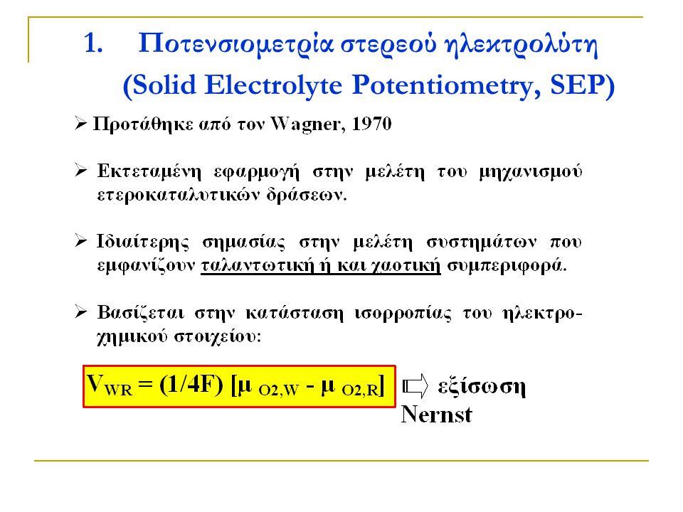 1.Ποτενσιομετρία στερεού ηλεκτρολύτη (Solid Electrolyte Potentiometry, SEP)