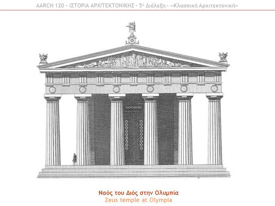 Ναός του Διός στην Ολυμπία Zeus temple at Olympia AARCH 120 – ΙΣΤΟΡΙΑ ΑΡΧΙΤΕΚΤΟΝΙΚΗΣ – 5 η Διάλεξη – «Κλασσική Αρχιτεκτονική»