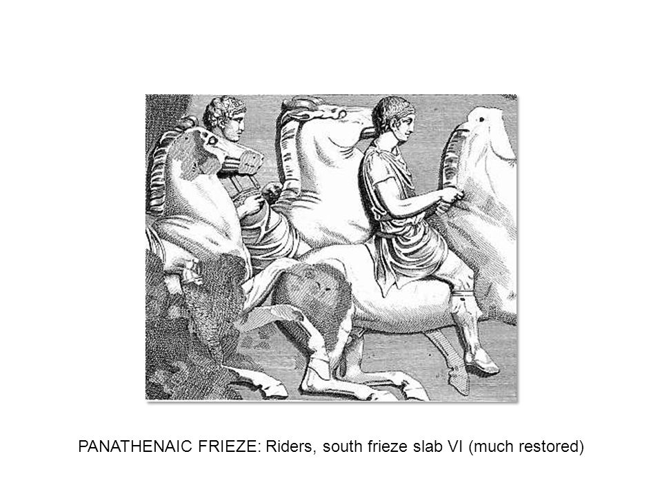 PANATHENAIC FRIEZE: Riders, south frieze slab VI (much restored)