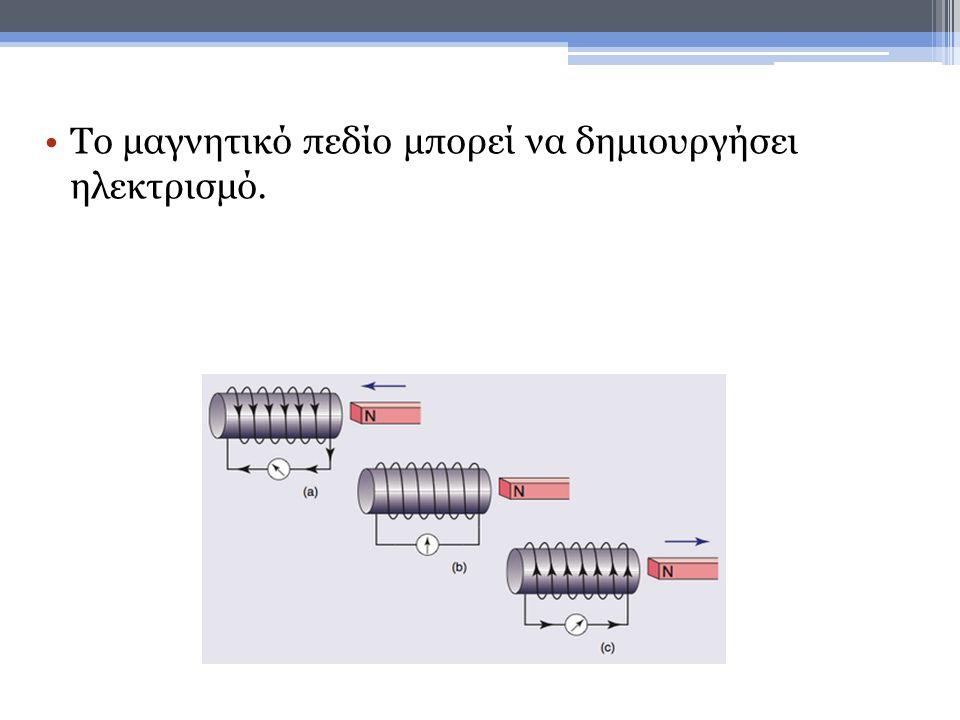 •Αν κινήσεις ένα σύρμα (εφόσον το κύκλωμα είναι κλειστό) στην περιοχή ενός μαγνήτη τότε δημιουργείται επαγωγικό ρεύμα.