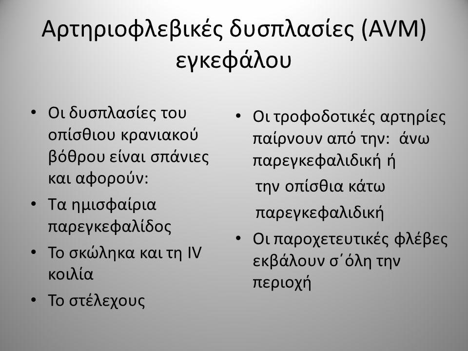 Αρτηριοφλεβικές δυσπλασίες (AVM) εγκεφάλου Lawton M.