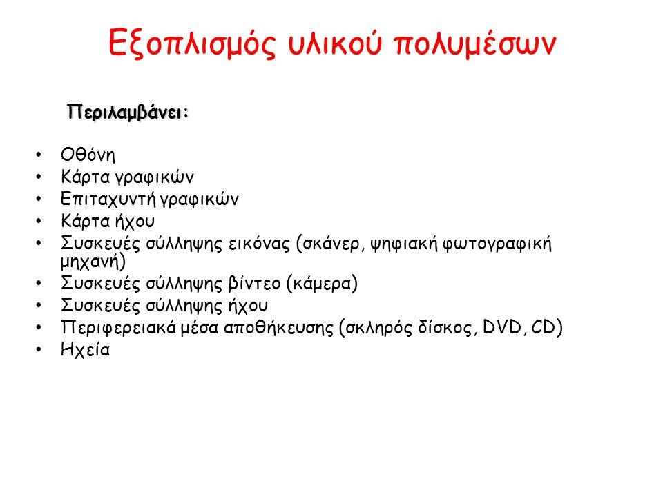 Συστατικά των πολυμέσων Α.
