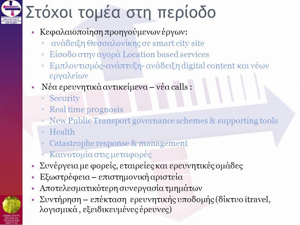 Εργαστήρια και Ομάδες τομέα Β' •Β1: Εμπορευματικές Μεταφορές και Logistics (οδικές, σιδ/κές, θαλάσσιες, διατροπικές) – Freight Transport and logistics (road, rail, maritime, Intermodal) •Β2: Αστική κινητικότητα και πολυτροπικά συστήματα Δημοσίων Μαζικών Μεταφορών – Urban Mobility and multimodal mass transport systems •Β3: Σχεδιασμός, Διαχείριση και Ανάλυση συστημάτων Μεταφορών και κυκλοφορίας / Παρατηρητήριο Μεταφορών (ΚΟΜΒΟΣ ΙΜΕΤ) – Planning, management, and analysis of Transport and traffic systems / Transport Observatory (HIT PORTAL - KOMVOS).