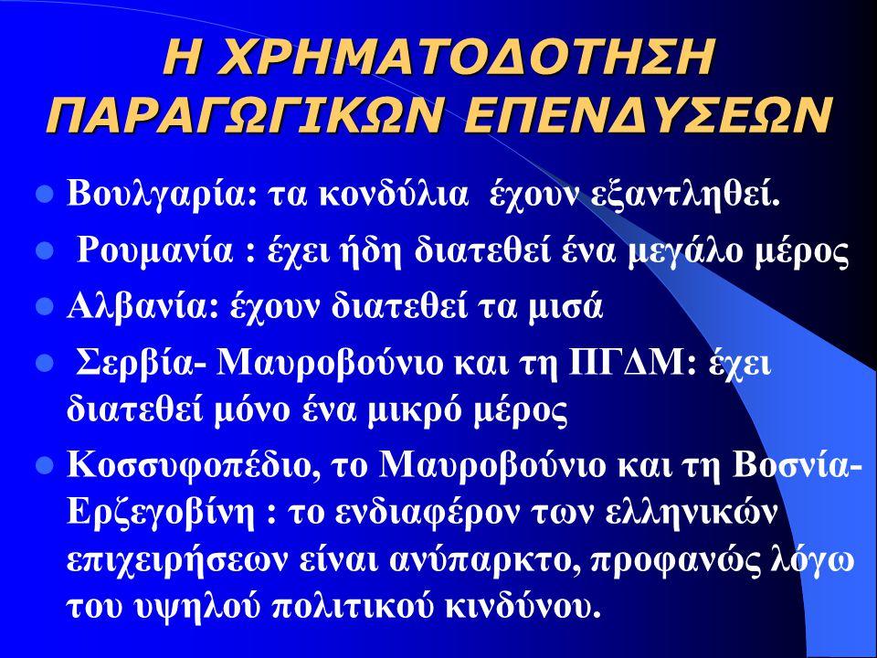 ΤΑ ΥΠΑΡΧΟΝΤΑ ΠΡΟΒΛΗΜΑΤΑ ΣΤΙΣ ΒΑΛΚΑΝΙΚΕΣ ΧΩΡΕΣ  Αλβανία: οδικός άξονα Αγίων Σαράντα – Κονίσπολης  Σερβία-Μαυροβούνιο: Ε-75 στο τμήμα Βελιγραδίου – Νίς – σύνορα με την πΓΔΜ, ( Ευρωπαϊκός άξονας Χ)  Ρουμανία: Η νέα κυβέρνηση δεν έχει διορίσει εθνικό συντονιστή.