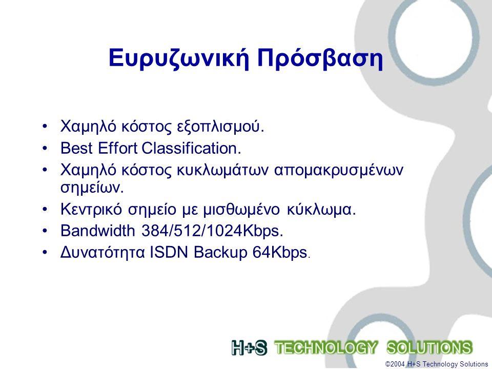 ©2004 H+S Technology Solutions Απαντήσεις Σπάσιμο του «Ευρυζωνικού Αυγού» •Διαθέσιμες και Προσιτές Ευρυζωνικές Υπηρεσίες.