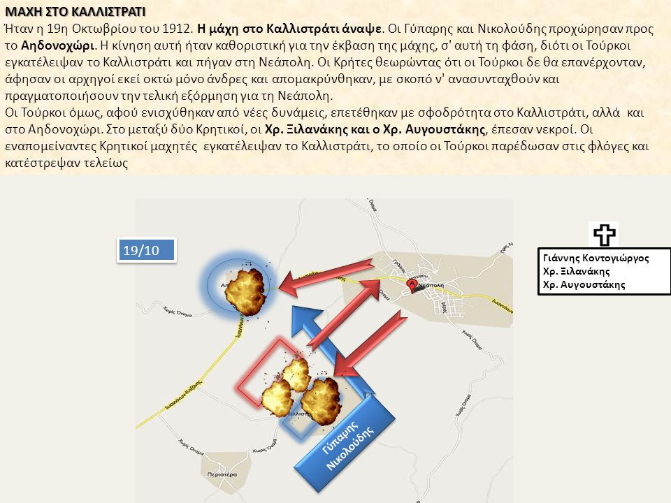 Νεκροί από τη Μάχη στο Καλλιστράτι : Ο Νικόλαος Χατζόπουλος, Ο Θωµάς Χατζόπουλος η σύζυγός του Φωτεινή.