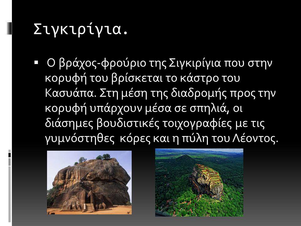Σιγκιρίγια. O βράχος-φρούριο της Σιγκιρίγια που στην κορυφή του βρίσκεται το κάστρο του Κασυάπα.